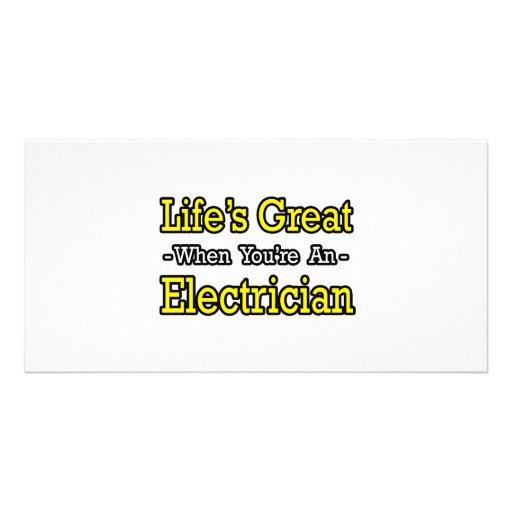 Vida grande cuando usted es electricista tarjetas personales