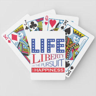 Vida, libertad y la búsqueda de la felicidad baraja de cartas bicycle