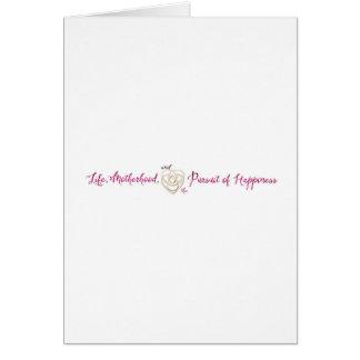 Vida, maternidad, logotipo de la felicidad tarjeta de felicitación