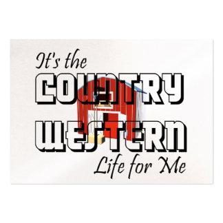 Vida occidental del país de la CAMISETA Tarjetas De Visita Grandes