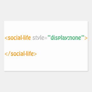vida social - directorio pegatina rectangular