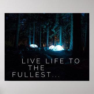 Vida viva al más lleno - poster de motivación
