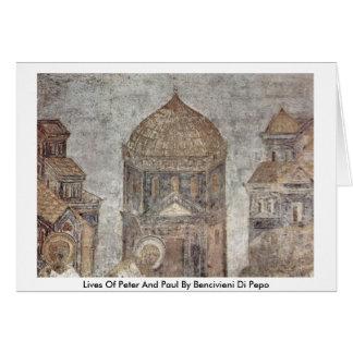 Vidas de Peter y de Paul de Bencivieni Di Pepo Tarjeta De Felicitación