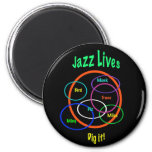 Vidas del jazz imán de frigorifico