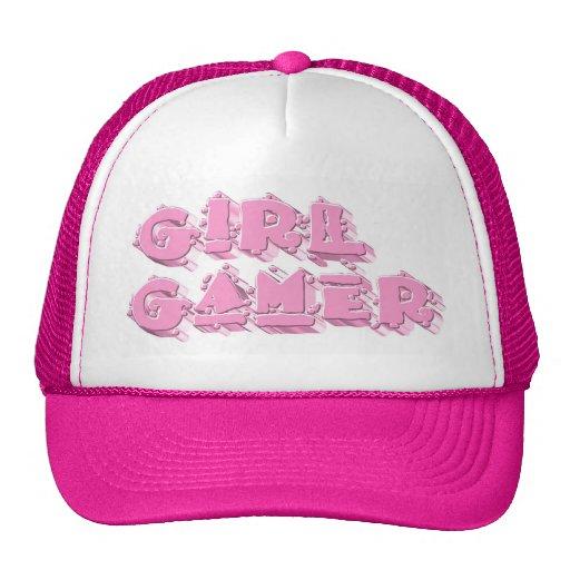 Videojugador del chica lindo gorras de camionero
