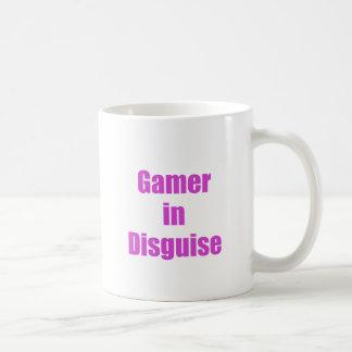 Videojugador en disfraz tazas