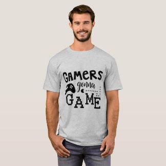 Videojugadores que van a la camiseta del juego