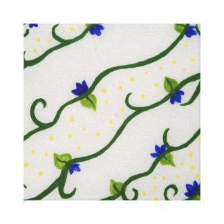 Vides amarillas y azules impresión en lienzo