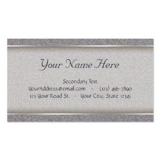 Vides grabadas en relieve gris de la hoja de la tarjetas de visita