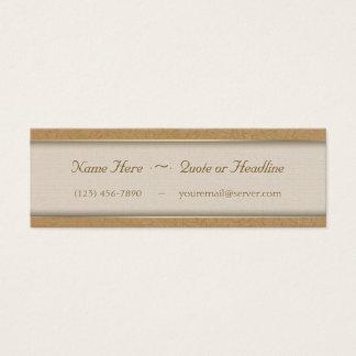 Vides grabadas en relieve oro de la hoja del trigo tarjeta de visita pequeña