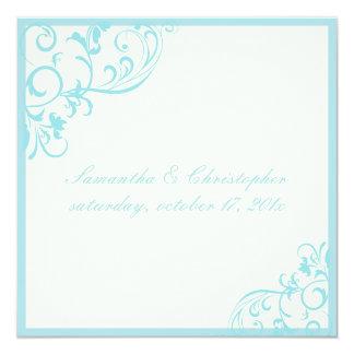 Vides heladas/azul de PixDezines Invitación 13,3 Cm X 13,3cm
