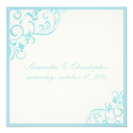 Vides heladas/azul de PixDezines Invitaciones Personalizada
