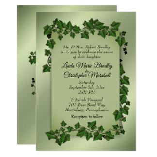 Vides verdes que casan la invitación