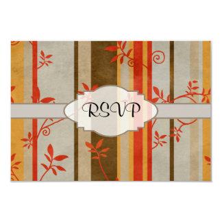 Vides y rayas del otoño invitación 8,9 x 12,7 cm
