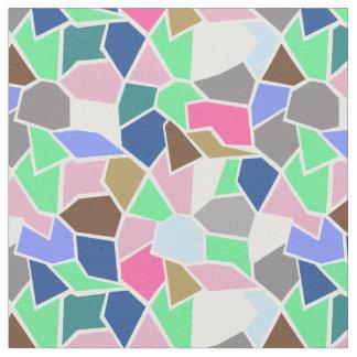Vidrio agrietado en rosa y azul tela