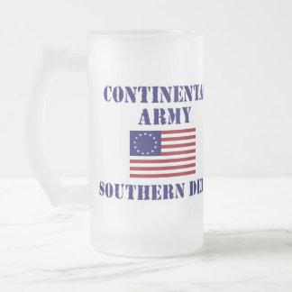 Vidrio continental del ejército de la guerra de jarra de cerveza esmerilada
