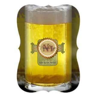Vidrio de cerveza personalizado divertido invitación