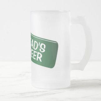Vidrio de cerveza personalizado para el regalo del jarra de cerveza esmerilada