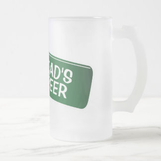 Vidrio de cerveza personalizado para el regalo del taza cristal mate