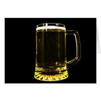 Vidrio de cerveza tarjeta