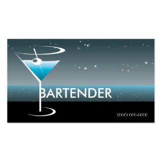 Vidrio de Martini de la tarjeta de visita que
