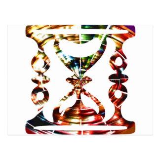 Vidrio decorativo de la hora - diseño rojo postal