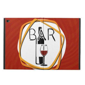 Vidrio del ejemplo de vino en una barra