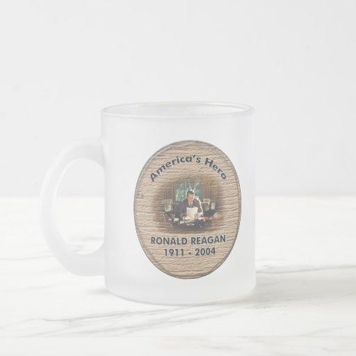 Vidrio del héroe de Reagan Tazas De Café