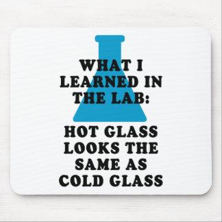 Vidrio del laboratorio tapete de ratones