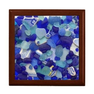 Vidrio del mar, caja de cristal del recuerdo de la