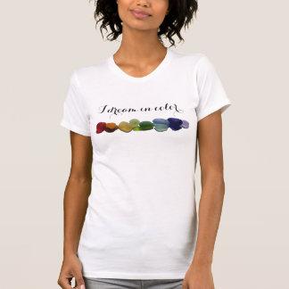 Vidrio del mar del arco iris, la camiseta de las