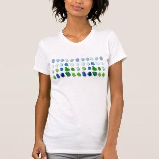Vidrio del mar, la camiseta de las mujeres de
