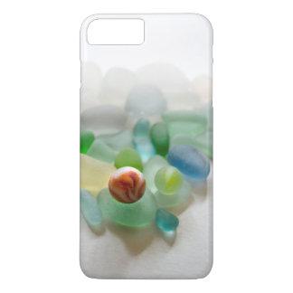 Vidrio del mar, mármol de la playa funda iPhone 7 plus