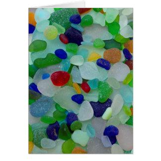 Vidrio del mar, tarjeta de felicitación de cristal
