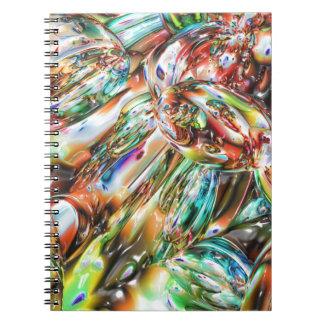 Vidrio derretido colorido cuaderno