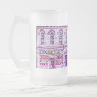 Vidrio esmerilado del salón de la orquídea de la jarra de cerveza esmerilada