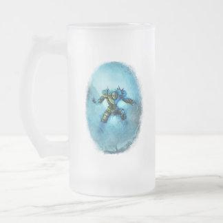 Vidrio helado caballero congelado de la taza