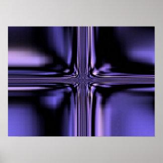 Vidrio púrpura 100 póster