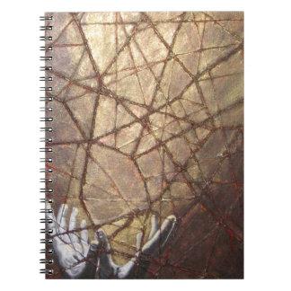 Vidrio roto y luz del sol cuaderno
