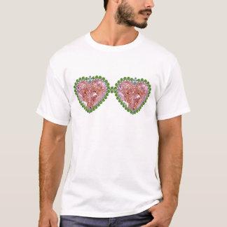 Vidrios coloreados rosa camiseta