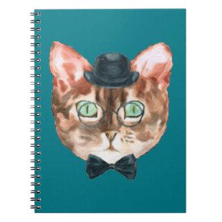 Vidrios de lujo del sombrero de copa de la cuaderno