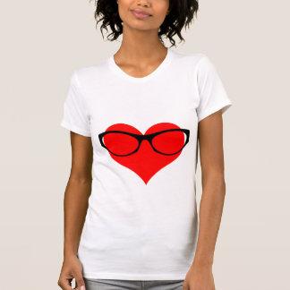 Vidrios del corazón camisetas