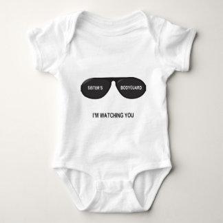 Vidrios del escolta de la hermana - para el bebé body para bebé