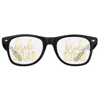 Vidrios del fiesta del pelotón de la novia gafas de fiesta retro