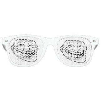vidrios del meme de la cara del duende divertidos gafas de fiesta retro