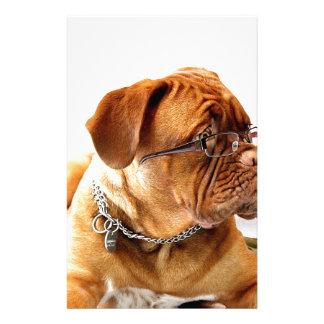 vidrios que llevan del perro de dogue de bordeaux papeleria personalizada
