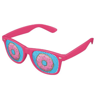 Vidrios rosados del fiesta del buñuelo del FD Gafas De Fiesta Retro