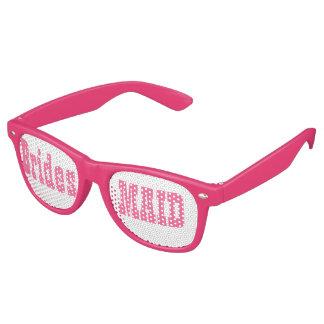 Vidrios rosados del fiesta del Swag de la dama de Gafas De Fiesta Retro
