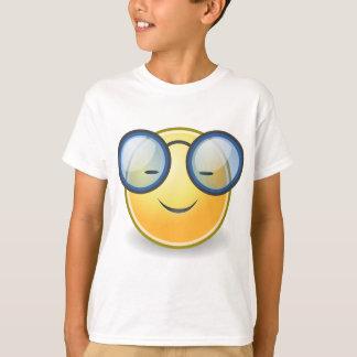 Vidrios sonrientes anaranjados elegantes camiseta