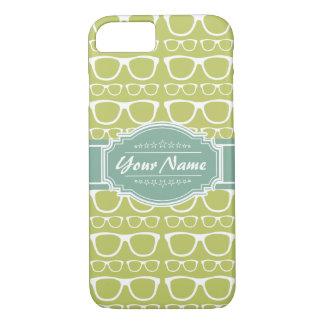 Vidrios verdes del friki personalizados funda iPhone 7
